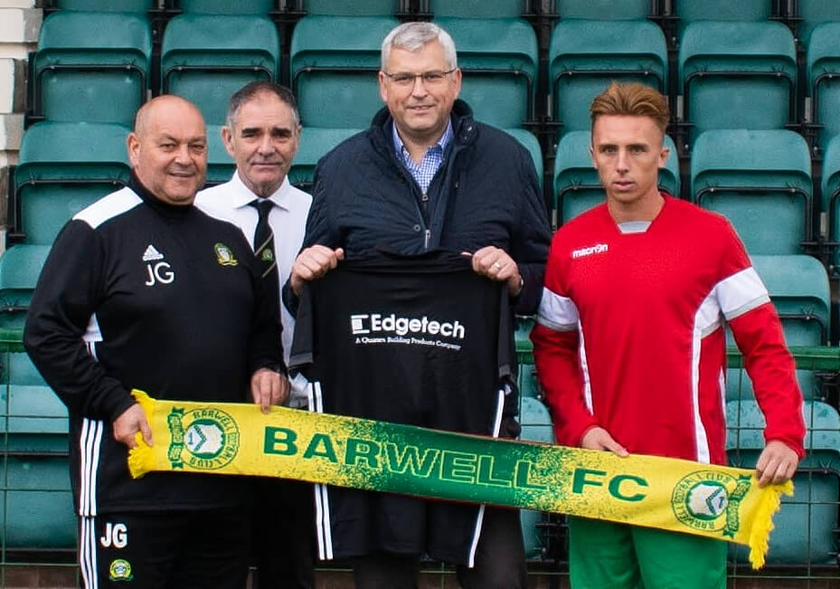 PR403 Barwell FC with Edgetech Managing Director Chris Alderson centre