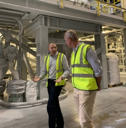 PROFINE CEO FLIES IN TO NEW UK MANUFACTURING FACILITY