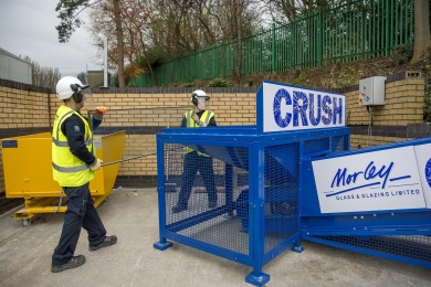 MORLEY GLASS CRUSHER REACHES 200 TONNE RECYCLING LANDMARK